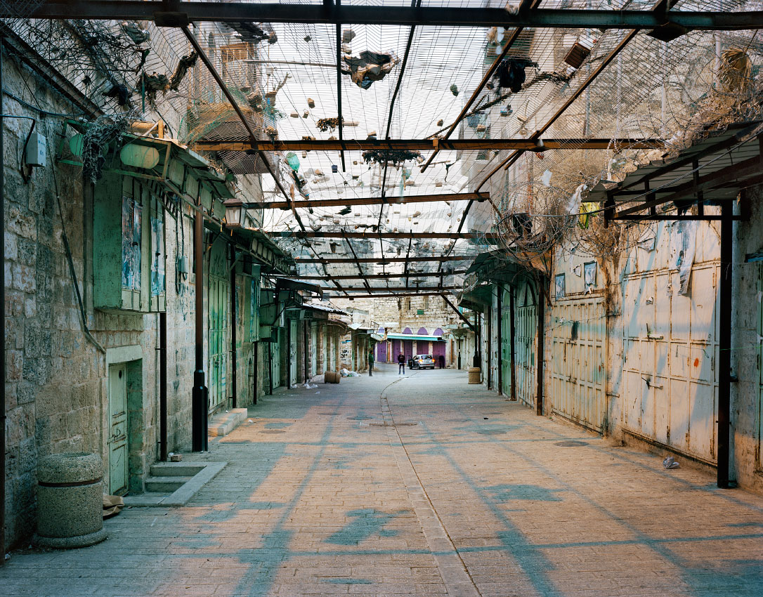 The Central Market, Hebron.<br/> West Bank, H2 special security zone for Central Hebron – full Israeli control over security, planning and construction.