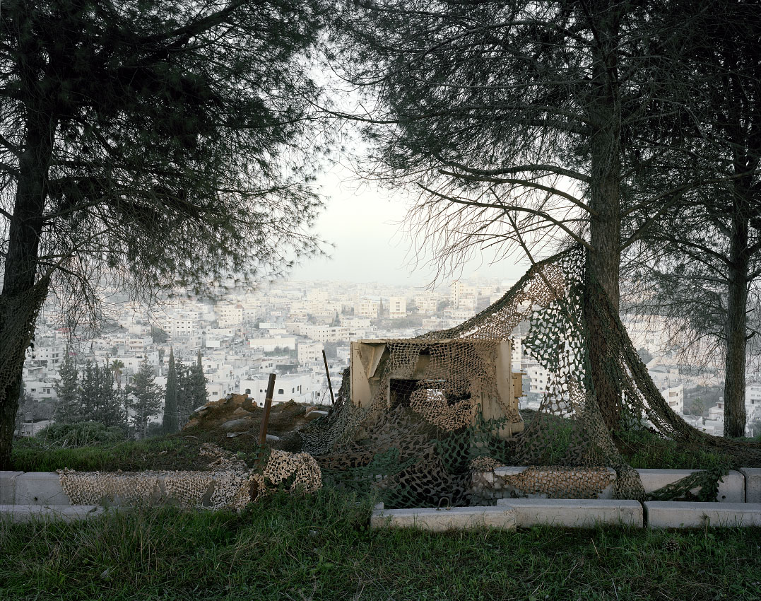 Gun emplacement over looking Bethlehem.<br/> West Bank, Area B – Palestinian civil control, Israeli military control.